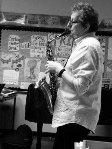 Black & White Gerard playing WW